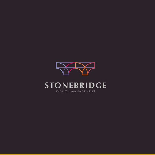 Minimalist stone bridge design