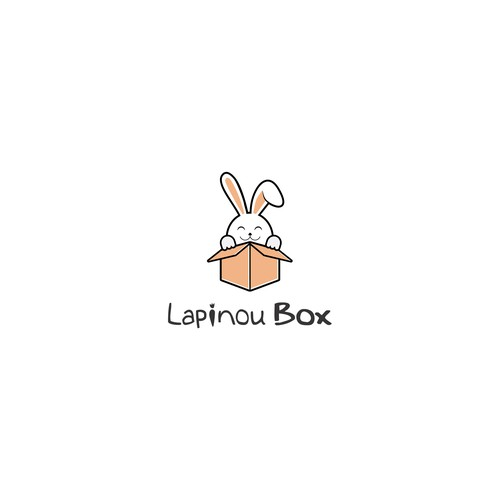 Logo for a monthly subscription box for bunnies