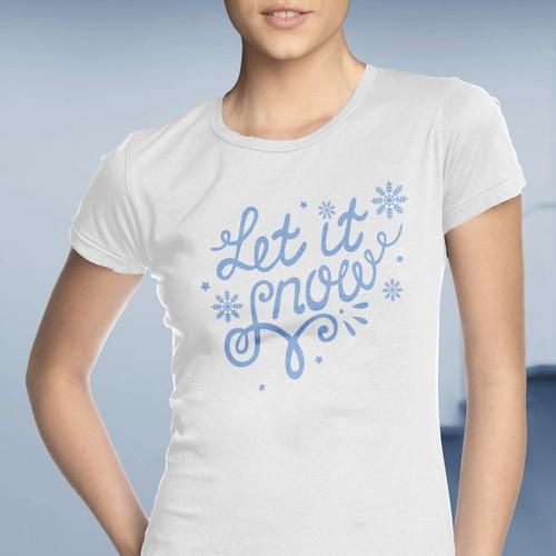 Christmas themed women's T-shirt