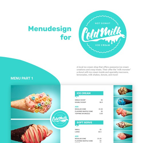 Menudesign for Coldmilk