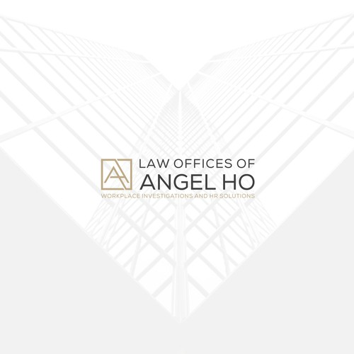 Monogram letter AH abstract