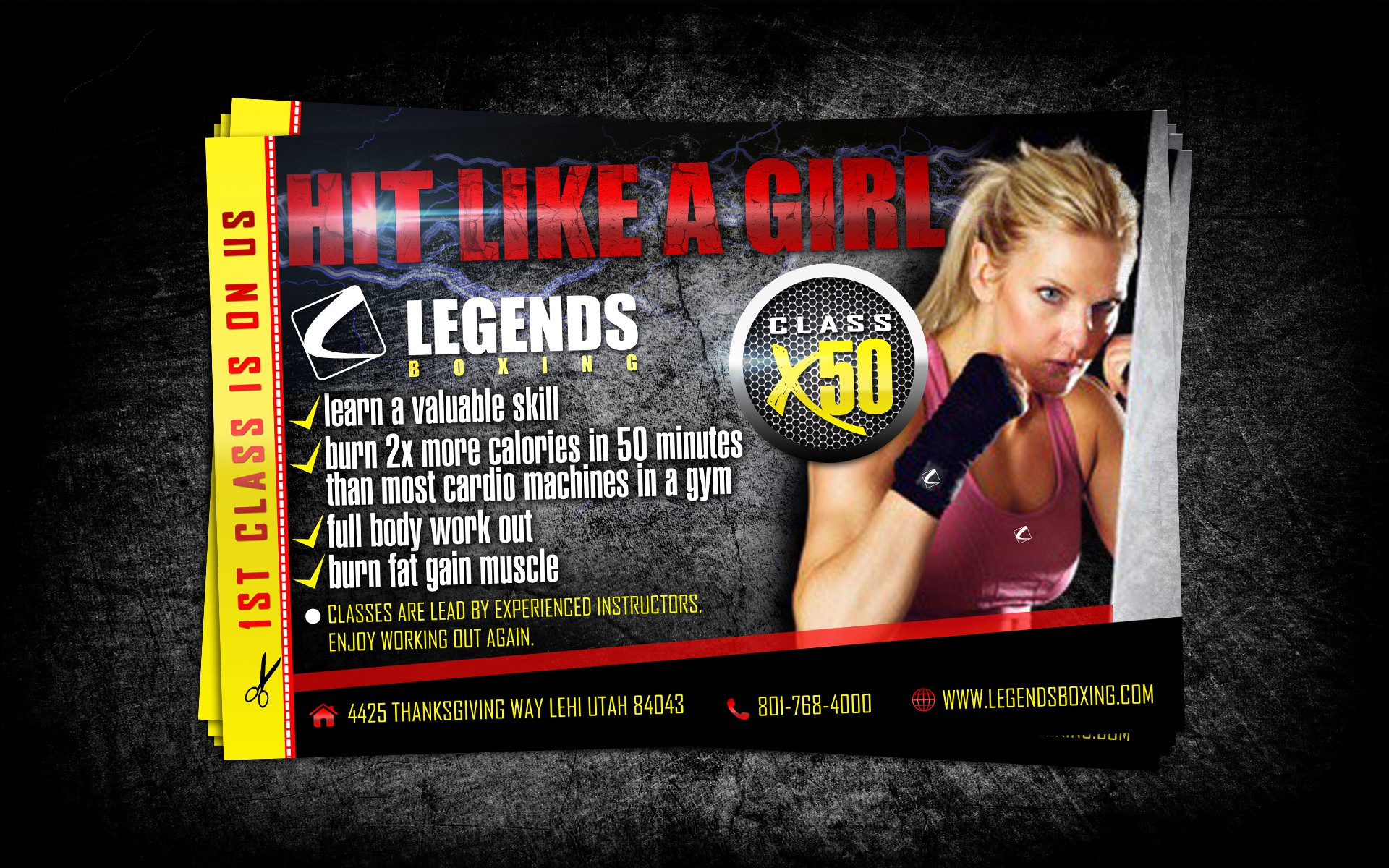 Create the next postcard or flyer for Legends Boxing