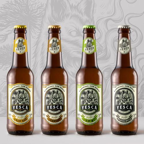 Badass Labels design for Yesca Beer