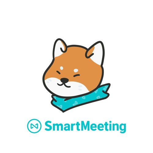 Online Meeting Service Mascot Design