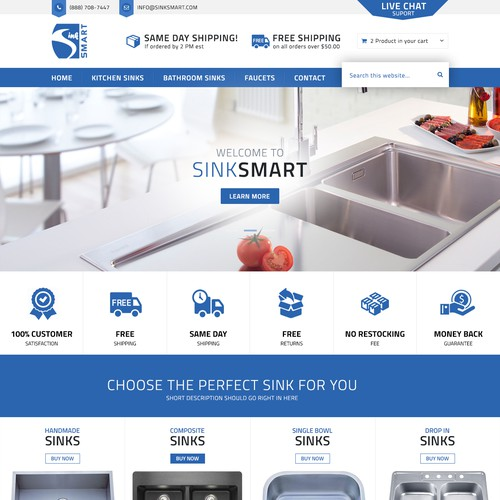 Website Design for SinkSmart