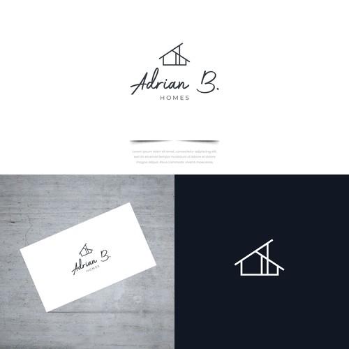 Elegant and clean logo for a homebuilder