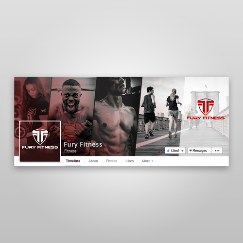 Fury Fitness Facebook Page Design