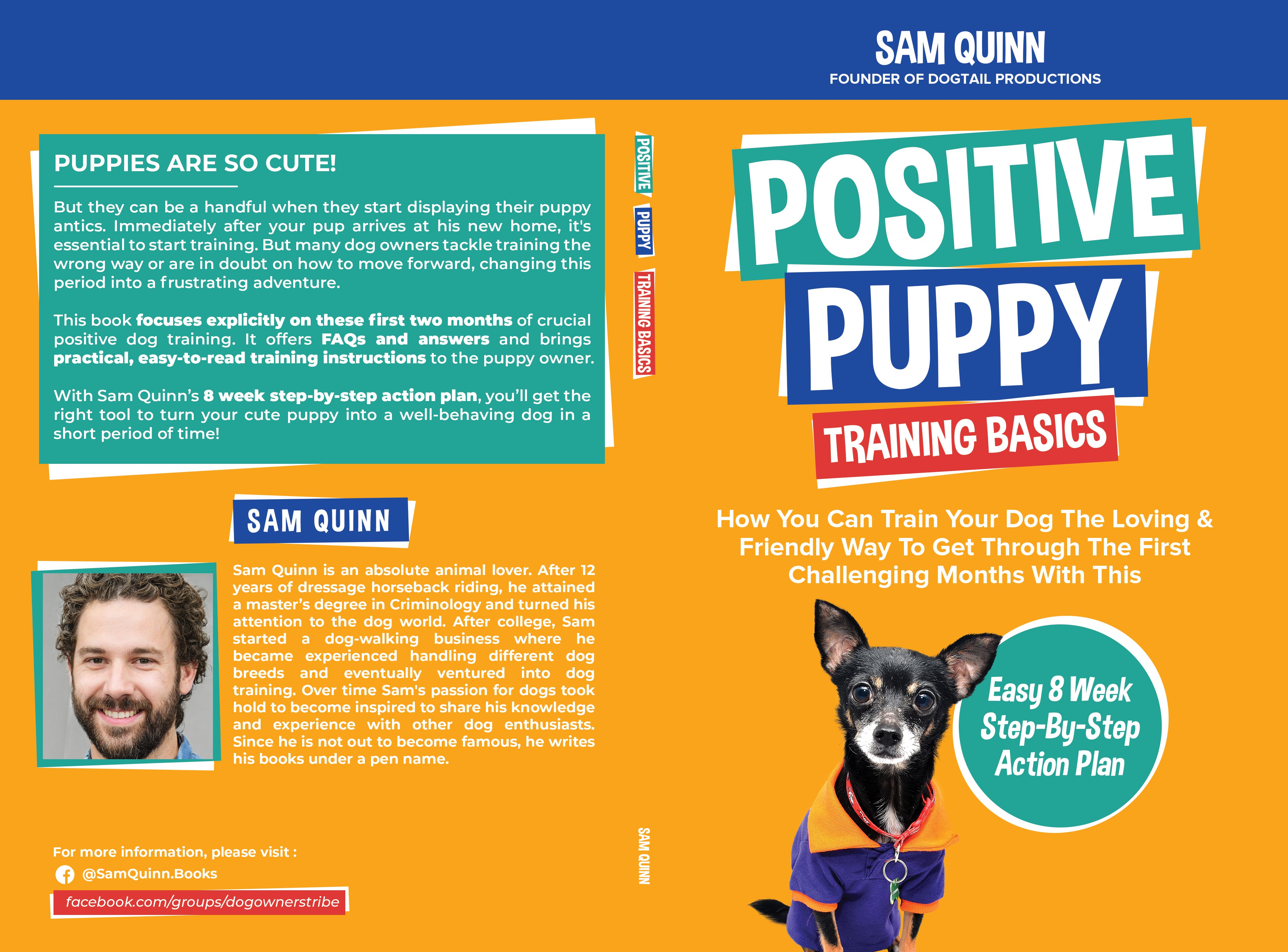 Colorful Book Cover Design for Dog Training Series