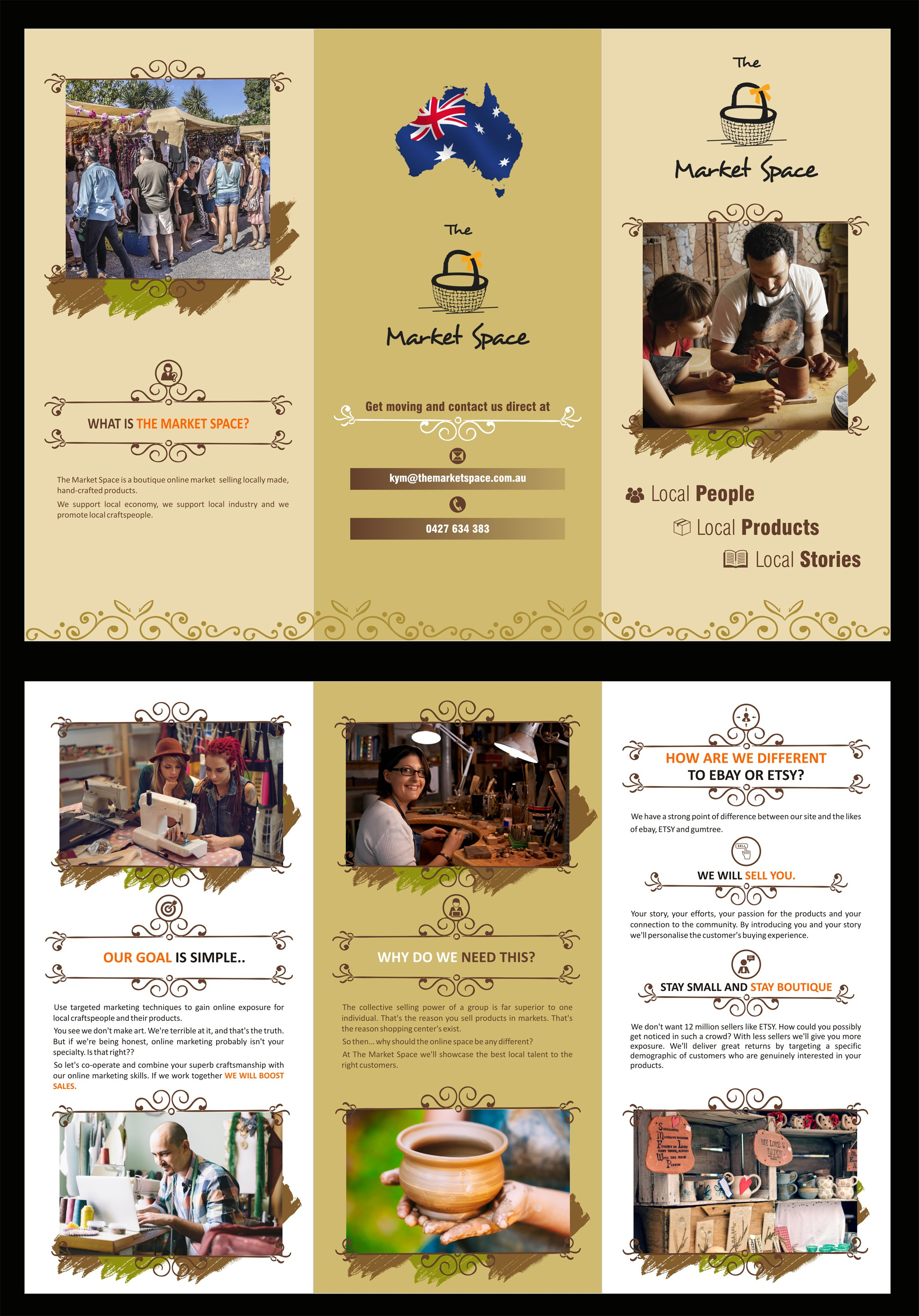 A brochure to attract craftspeople to sell products on my website