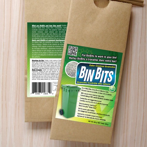 High impact label needed for BinBits Odor Control Granules