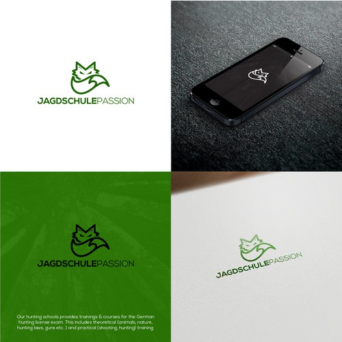 Logo concept for Jagdschulle Passion