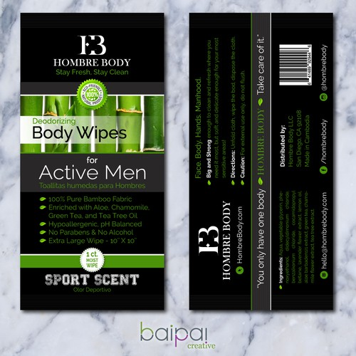 Hombre Body Sachet Packaging