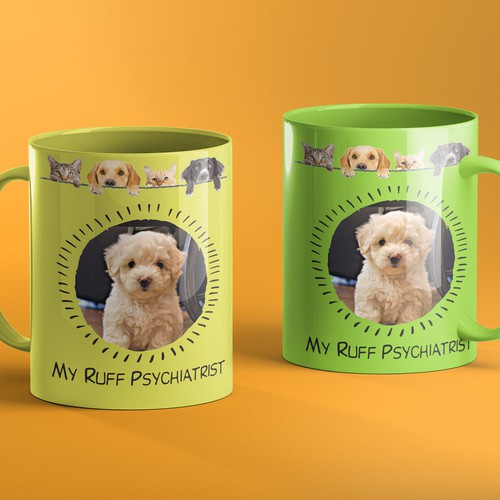 Show your dog on mugs, posters and more.