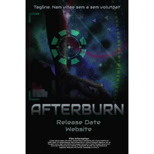 SCI-FI MOVIE POSTER - AFTERBURN