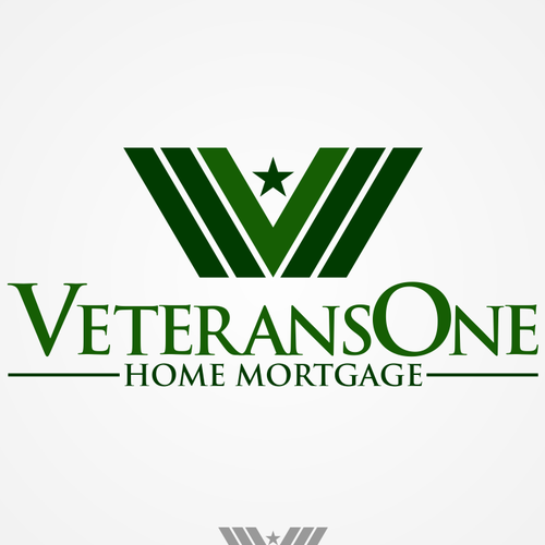 Create a new logo for VeteransOne Home Mortgage