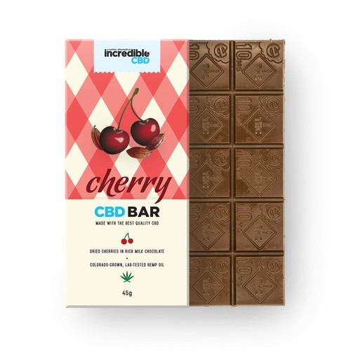 Packaging for CBD chocolate bar