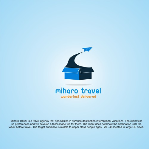 monocrome logo for miharo travel