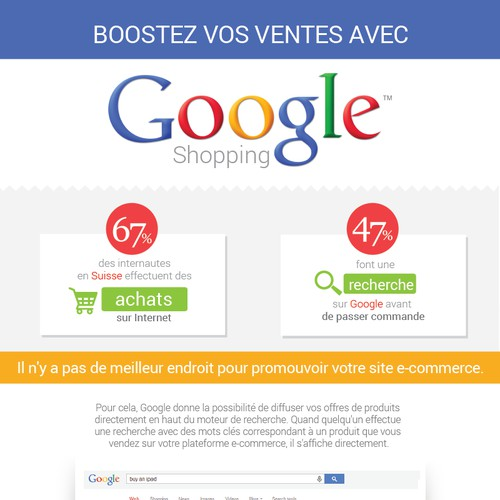 Promote Google Shopping in a newsletter !