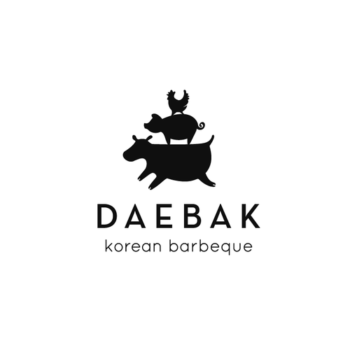 Fun Logo for Korean Barbeque, DAEBAK!