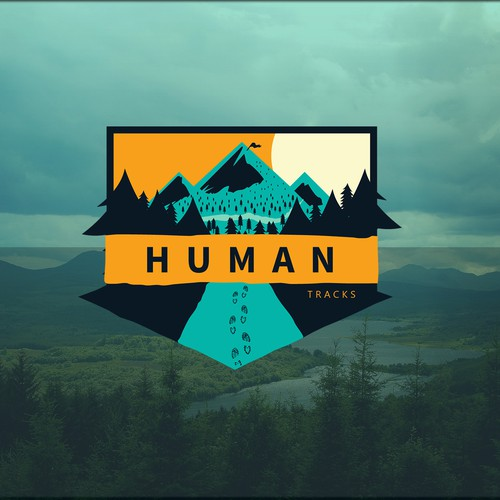 Create a logo for Human Tracks, an outdoor documentary and blog.