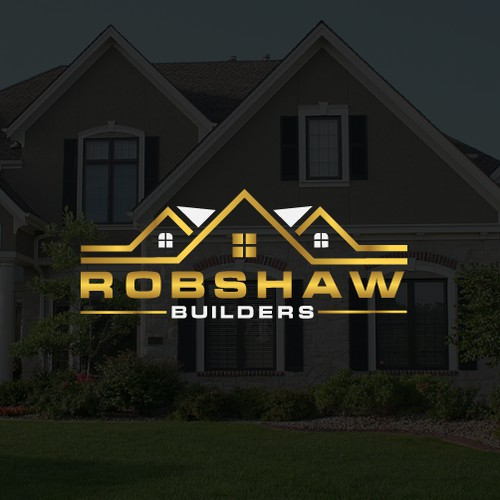 A sharp logo for a home building contractor