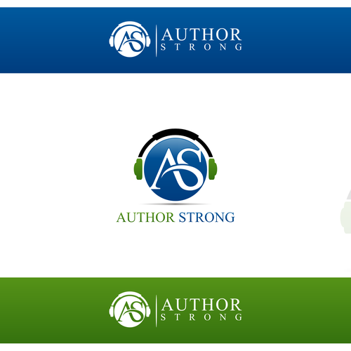 Create a logo identity for Author Strong's website and podcast!