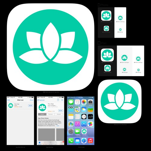 New Yoga app icon for iOS