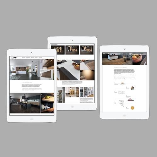 Website for a kitchen design showroom