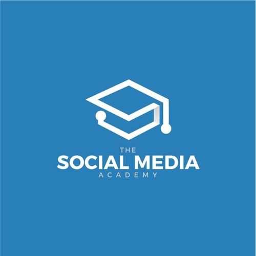 geometric logo for social media academy