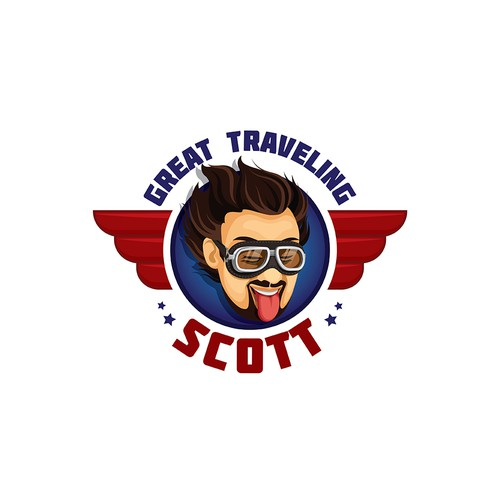 Logo for the blog of truck driver - about traveling, sport, beverages and so on...