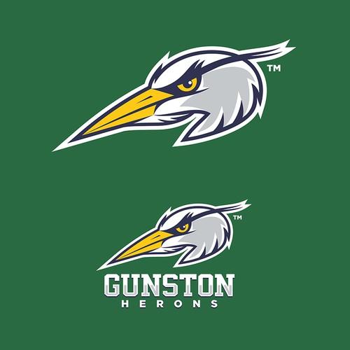 Gunston Herons Mascot Logo