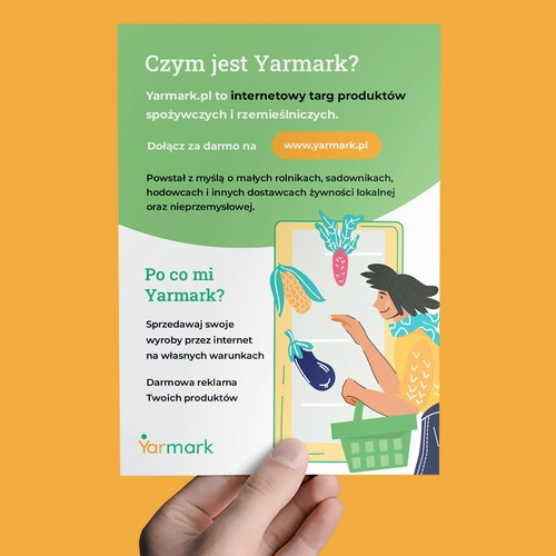 flyer for Yarmark.pl