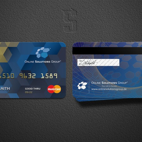 Edgy Credit Card Design