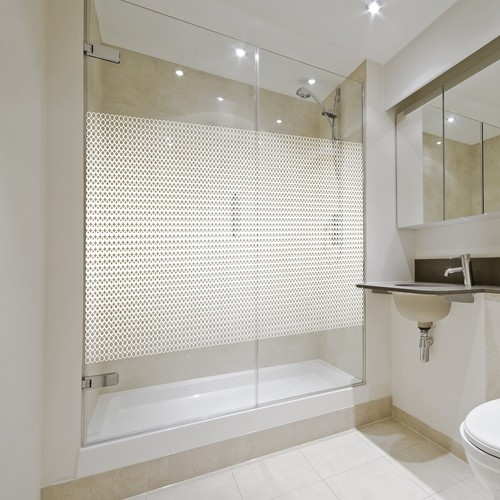 Pattern for glass shower