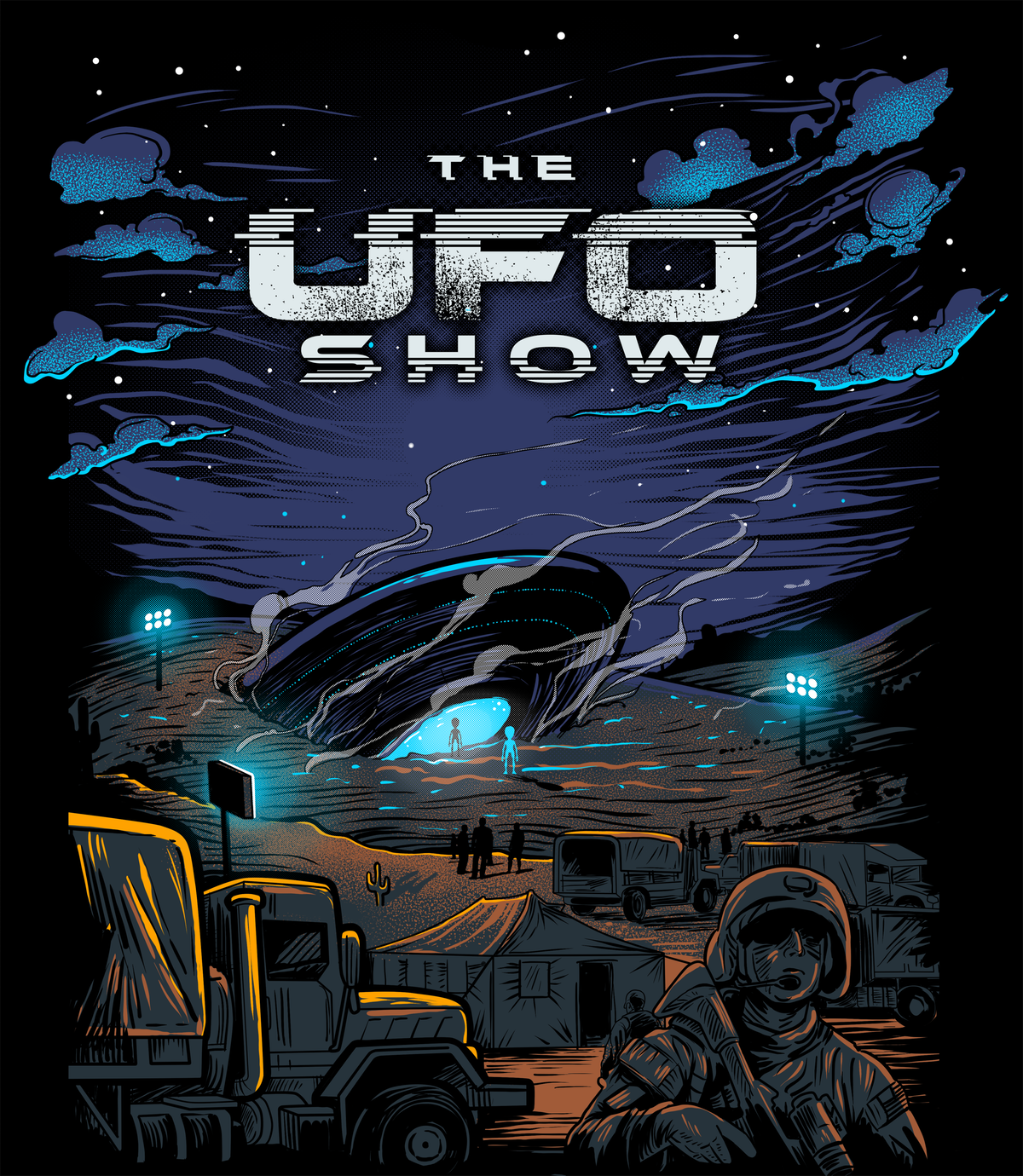UFO/Alien themed t-shirt