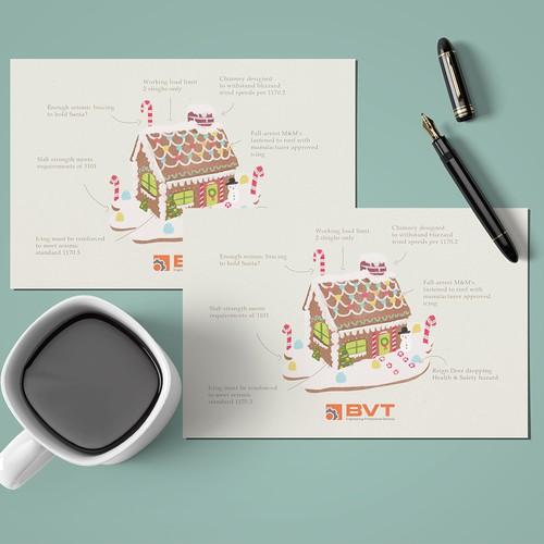 Season Postcard Design