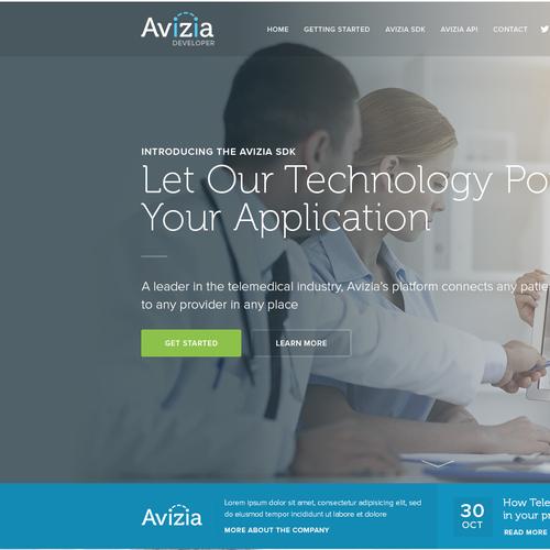 Avizia Development Portal landingpage