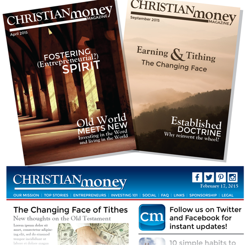 Create an awesome logo for Christian Money Magazine