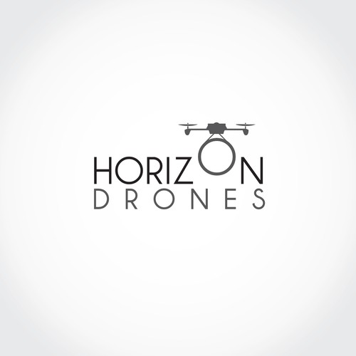 Create a professional and subtle logo for Horizon Drones