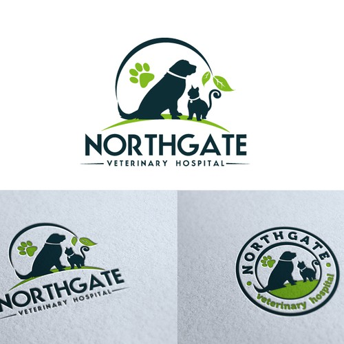 northgate veterinary hospiital needs a new logo