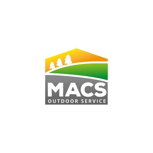 Outdoor service bold logo concept