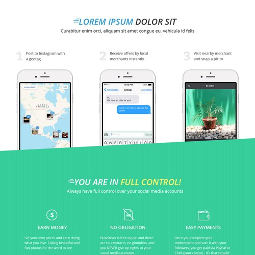 Landing page for Instagram Influencers