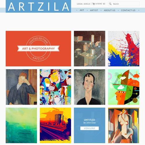 Create the next website design for Artzila