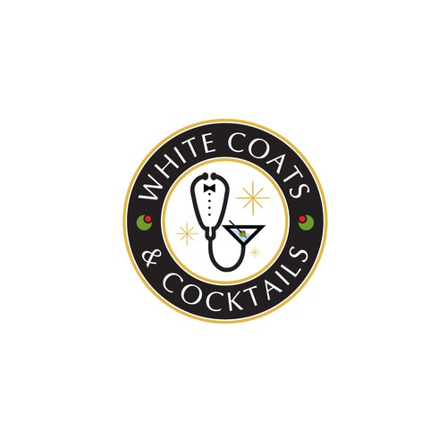 Logo for White Coats & Cocktails