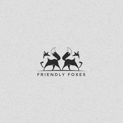 Friendly Foxes Cool Logo