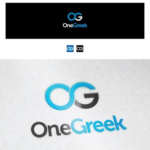 "logo design for ""One Greek"""