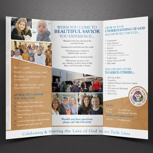 Beautiful Savior Lutheran Church Tri-Fold Brochure