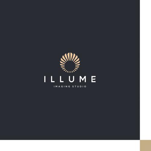 luxury logo concept for illume imaging studio