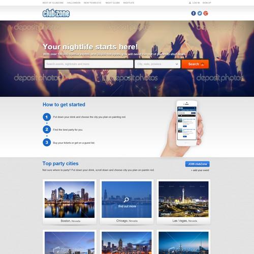 website design for www.clubZone.com