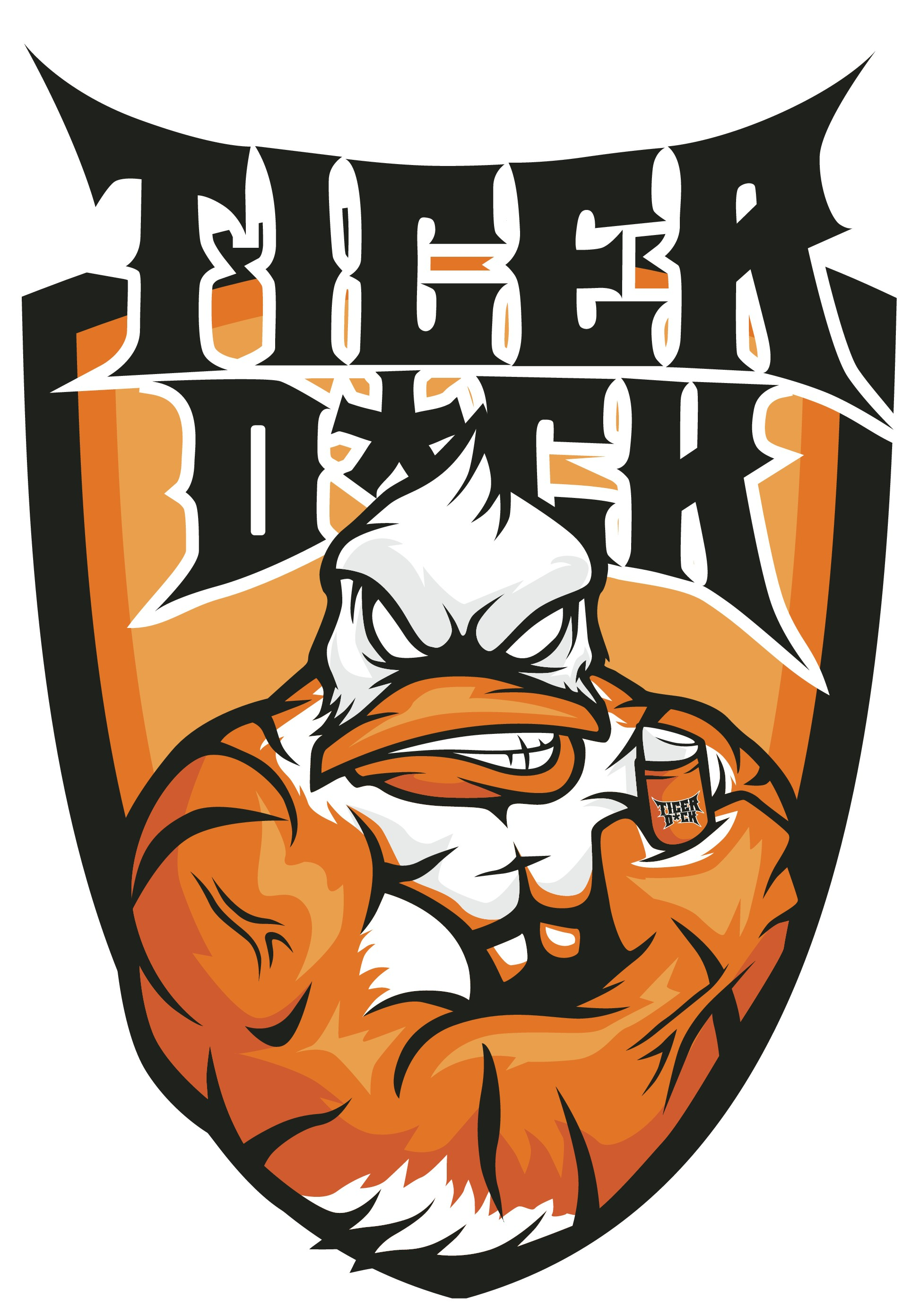 TigerDuck - create a muscular new animal for my mans lipbalm brand